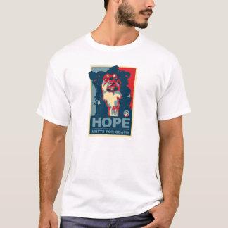 Hoffnungs-Köter für Änderung Obama K9 wählen T - T-Shirt