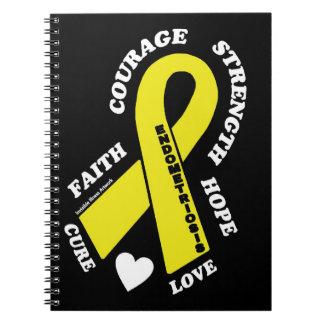Hoffnungs-Liebe-Heilung… Endometriosis Spiral Notizblock