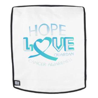 Hoffnungs-Liebe-Stützeierstockkrebs-Bewusstsein Rucksack