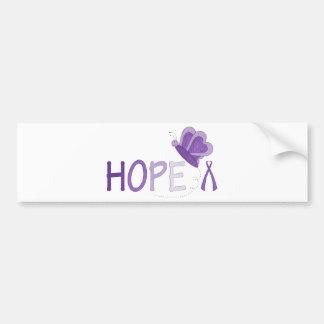 Hoffnungs-lila Band-Bewusstsein Autoaufkleber