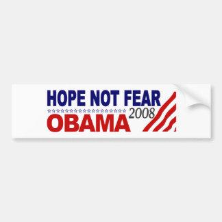 Hoffnungs-nicht Furcht Obama 08 Autoaufkleber