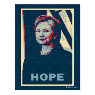 Hoffnungs-Pop-Kunst Hillary Clinton Postkarte