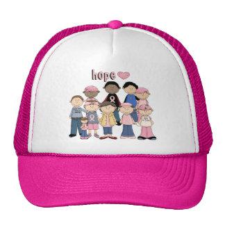 Hoffnungs-rosa Band Baseballcaps