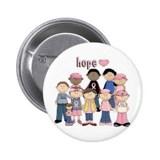 Hoffnungs-rosa Band Runder Button 5,1 Cm
