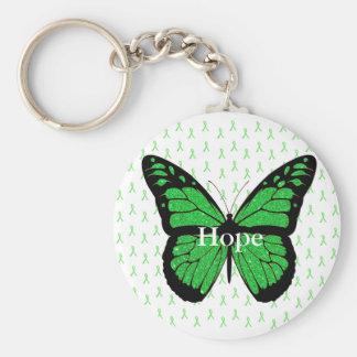 Hoffnungs-Schmetterling Lyme Bewusstseins-Band Schlüsselanhänger