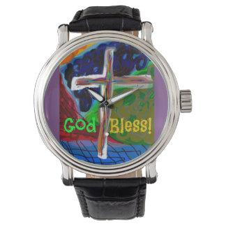 Hoffnungs-segnen heilender Kirchen-Gott Armbanduhr