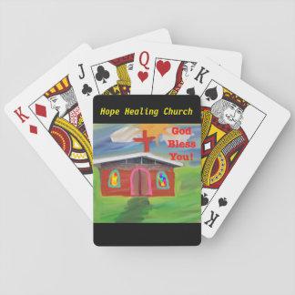 Hoffnungs-segnen heilender Kirchen-Gott Sie Spielkarten