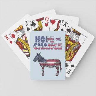 Hoffnungs-und Änderungs-demokratische Esel-Karten Spielkarten