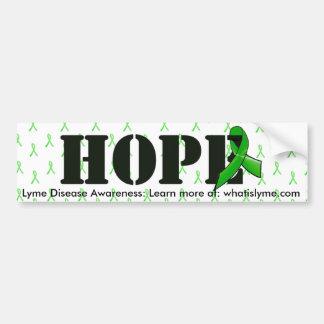 Hoffnungs-und Lyme-Borreliose-Bewusstseins-Band Autoaufkleber