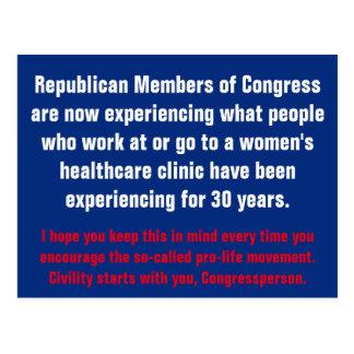 Höflichkeits-Anfänge mit dem GOP Postkarte