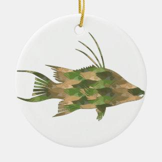 Hogfish Unterwasseratemgerät-DEBs Camouflage Keramik Ornament