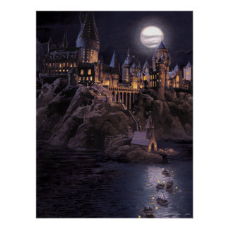 Hogwarts Boote zum sich zurückzuziehen Poster