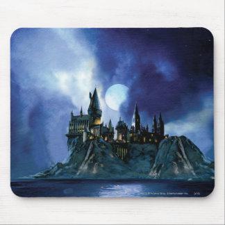Hogwarts durch Mondschein Mousepads