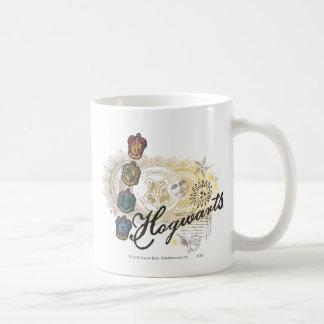 Hogwarts Logo und Professoren 2 Kaffee Tassen