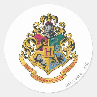Hogwarts Wappen farbenreich Runder Aufkleber