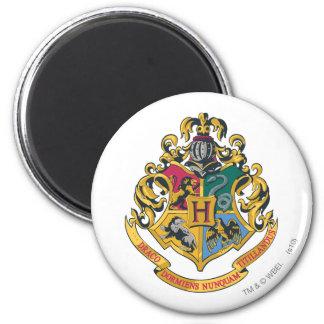 Hogwarts Wappen farbenreich Runder Magnet 5,7 Cm