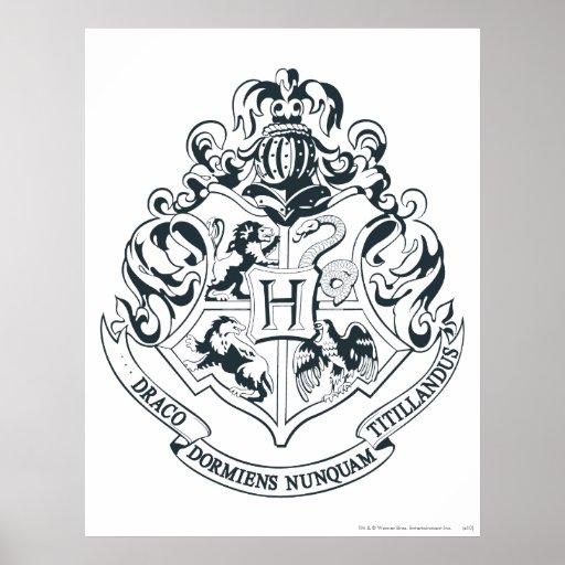 Hogwarts Wappen Posterdruck Zazzle