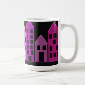 Hohe bunte Gebäude Kaffeetasse