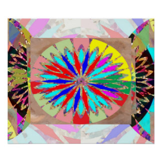 Hohe Energie-Diamant - Blume Chakra Poster