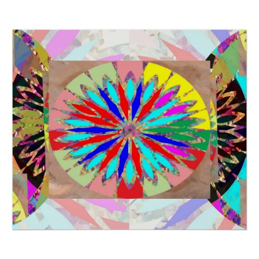 Hohe Energie-Diamant - Blume Chakra Plakatdruck