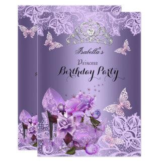 Hohe Fersen-Rosen-Geburtstag 3 Prinzessin-Purple Karte