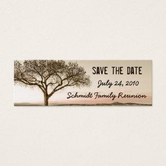 Hohe Land-Save the Date Lesezeichen-Karte Mini Visitenkarte