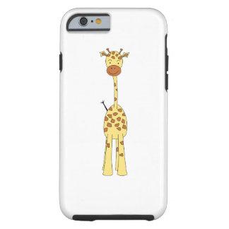 Hohe niedliche Giraffe. Cartoon-Tier Tough iPhone 6 Hülle