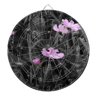 Hohe rosa Mohnblumen im Wind Dartscheibe