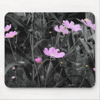 Hohe rosa Mohnblumen Mousepad