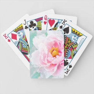 Hohe rosa Pfingstrosen-SchlüsselBlume Bicycle Spielkarten