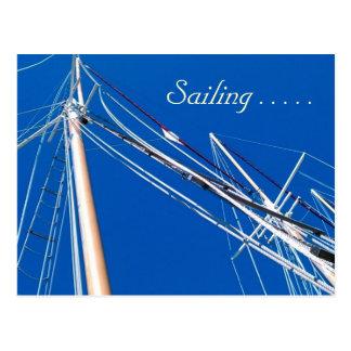 Hohe Schiffe, segelnd…. Postkarte