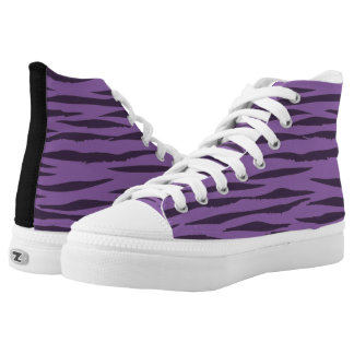 Hohe Spitzentennisschuhe des lila Tigers Hoch-geschnittene Sneaker