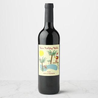 Hohe tauchende Sankt-Feiertags-Wein-Aufkleber Weinetikett