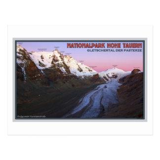 Hohe Tauern - Pasterze Gletscher-Tal an der Postkarte
