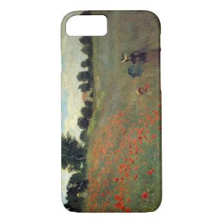Hohe wilde Mohnblumen Res Monet nähern sich iPhone 8/7 Hülle