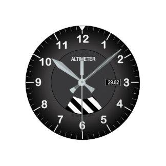 Höhenmesser-Art-Uhr Runde Wanduhr