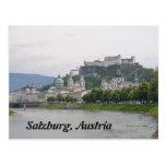 Hohensalzburg Schloss, Postkarte Salzburgs, Österr