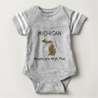 Hoher Bodysuit fünf Michigans - Amerikas Baby Strampler