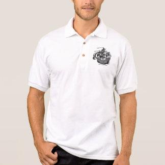 Hoher cooler Shirtentwurf des Segelnschiffs Polo Shirt
