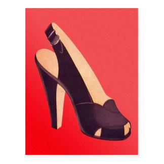 Hoher der Heels-Schuh der Vintagen Frauen Postkarten