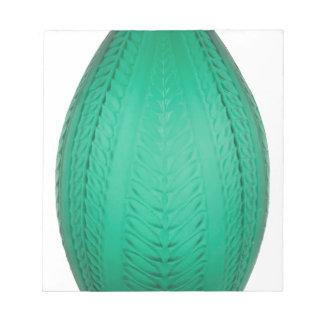 Hoher grüner Kunst-Deko-Glas-Vase Notizblock