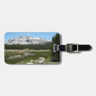 Hoher Park des Land-Gebirgsstrom-I Yosemite Gepäckanhänger