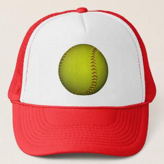 Hoher Sicht-Gelb-Softball Truckerkappe