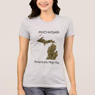 Hoher T - Shirt fünf Michigans - Amerikas
