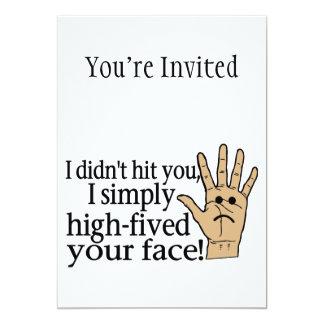 Hohes Fived Ihr Gesicht 12,7 X 17,8 Cm Einladungskarte