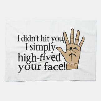 Hohes Fived Ihr Gesicht Geschirrtuch