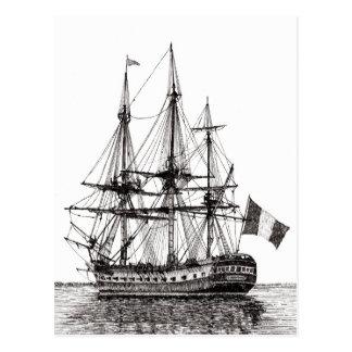 """""""Hohes Schiff Hermione auf dem York-Fluss"""" Postkarte"""