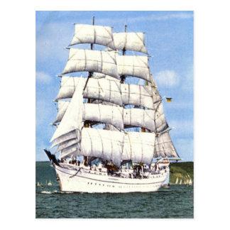 Hohes Schiff, quadratischer Rigger, Postkarte