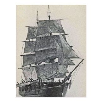 Hohes Schiffs-Logo Postkarte