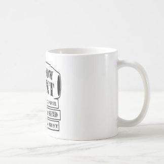 Hohle Punkte, wenn Sie Sorgfalt das Beste senden Kaffeetasse